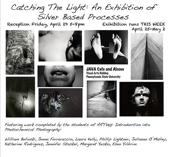 Student Exhibition for Art 390: Introduction to Photochemical Photography