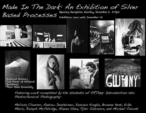 In The Dark: An Exhibition of Silver Based Processes